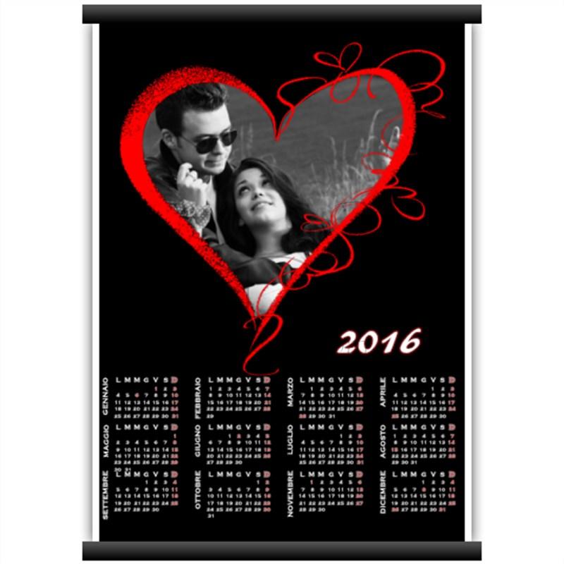 foto su calendario personalizzato