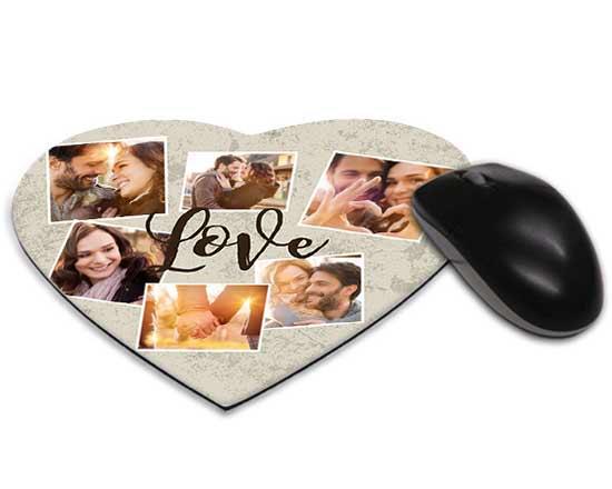 mousepad cuore personalizzato