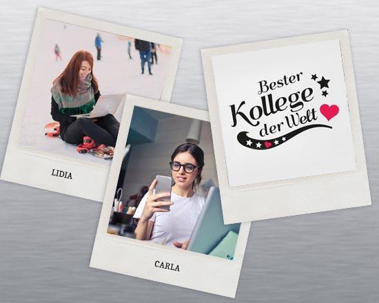 stampa immagine colleghi su polaroid