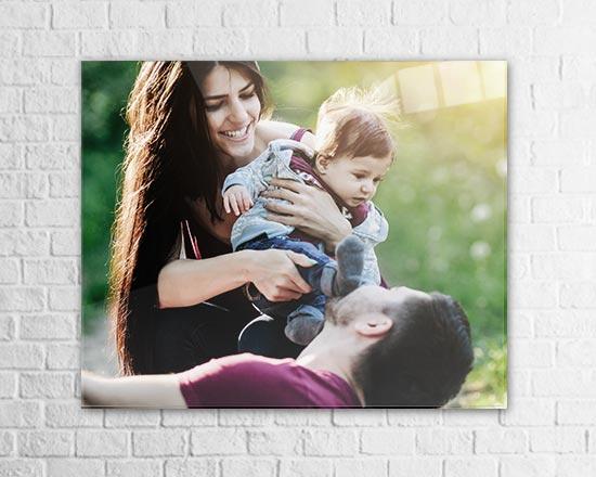 stampa su plexiglass foto di famiglia per 40 anni di matrimonio