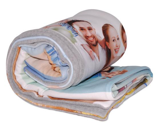 coperta personalizzata doppio strato in pile