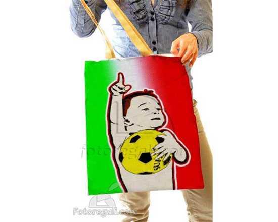 stampa pop art su borsa personalizzata
