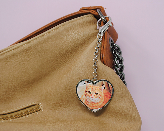 ciondolo per borsa personalizzato