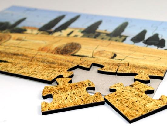 Puzzle con paesaggio di campagna