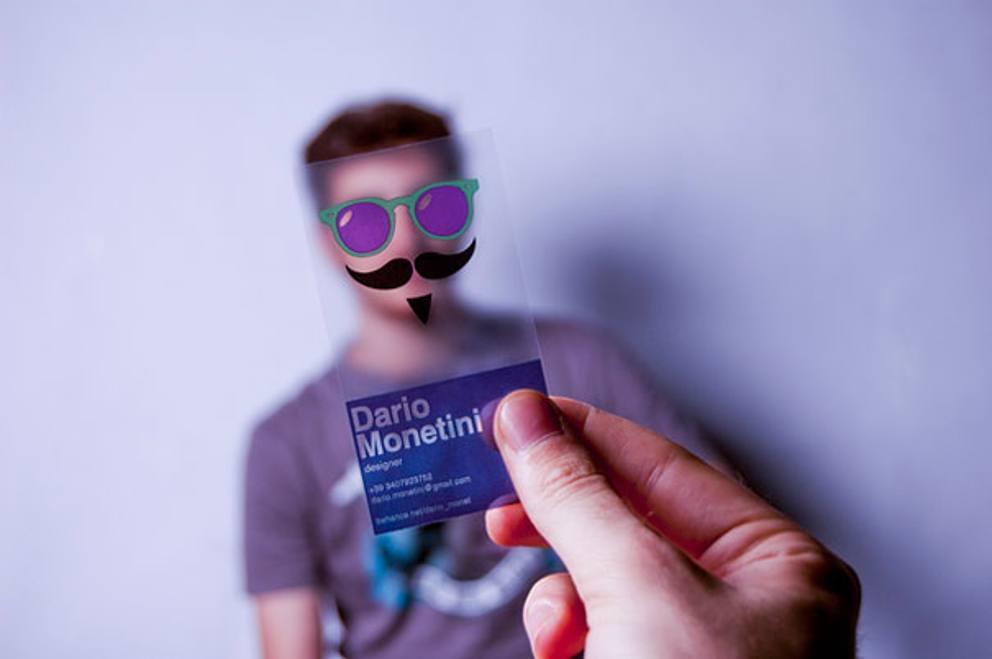 Biglietto da visita designer