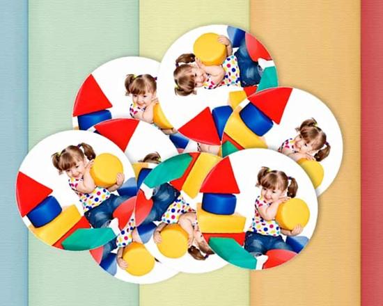 Stickers tondi personalizzati con foto
