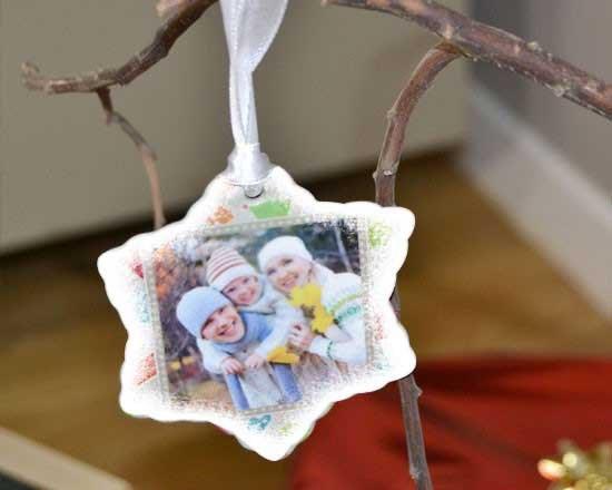 Decorazione natalizia a forma di foglia personalizzata