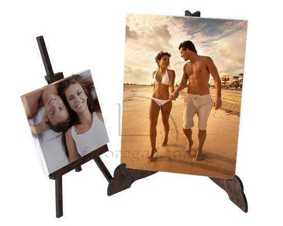 Piccole foto su tela con supporto