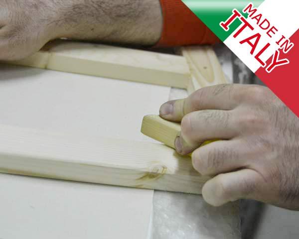 lavorazione made in italy stampe su tela