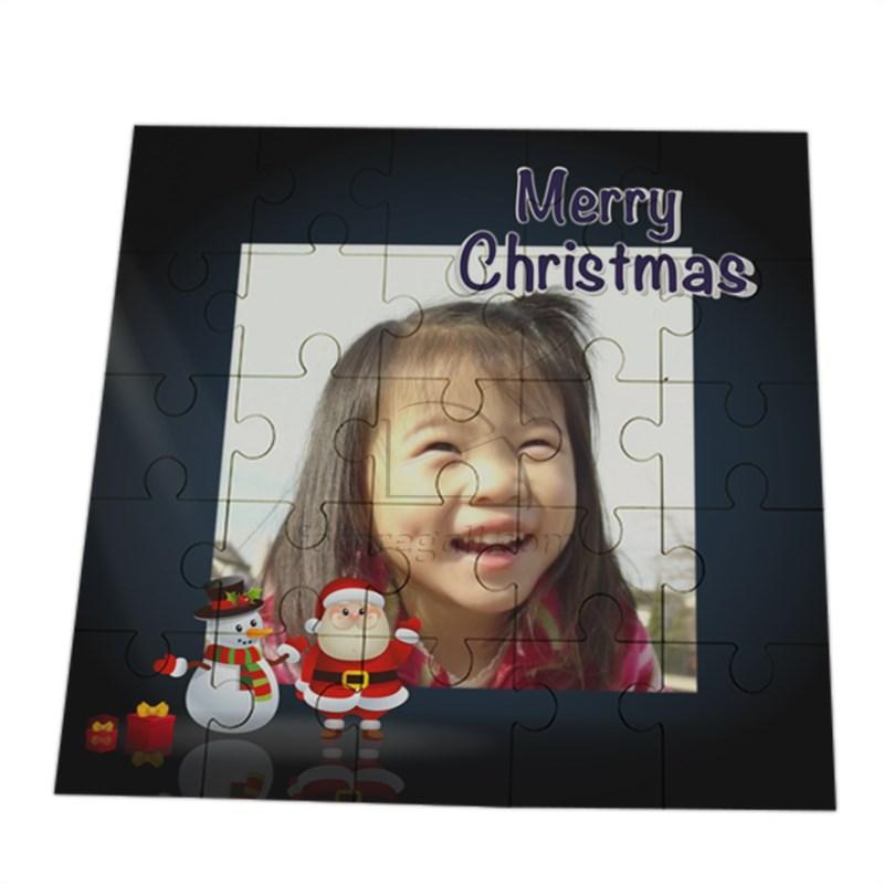 foto su puzzle natalizio