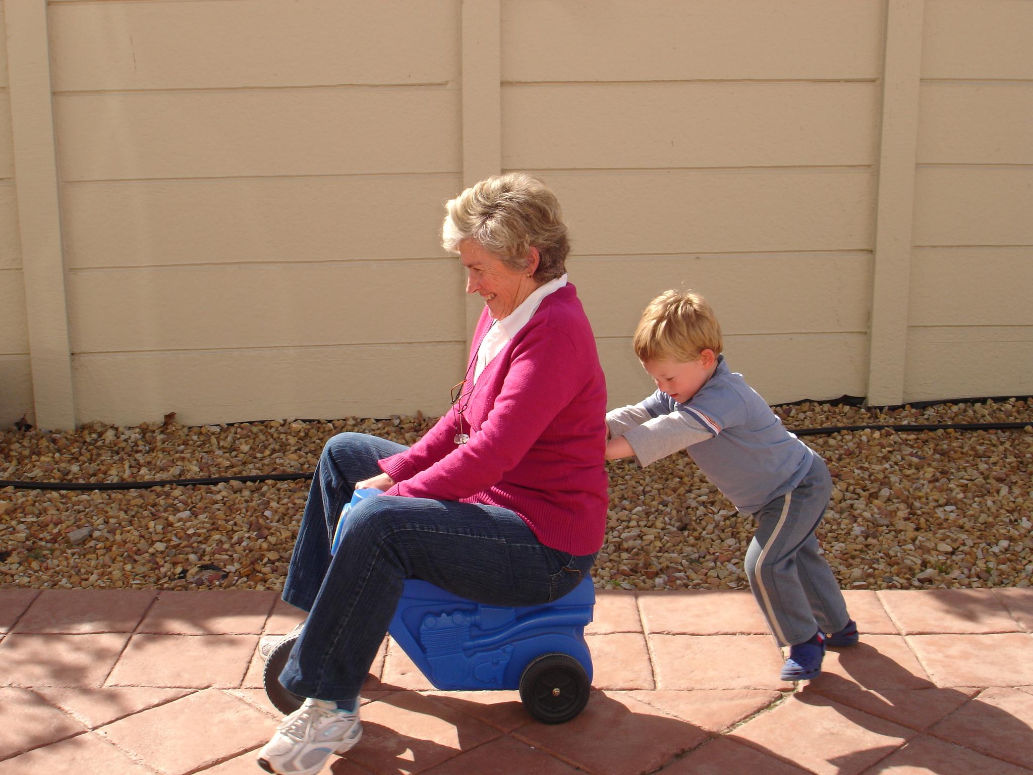 nonna con il nipotino