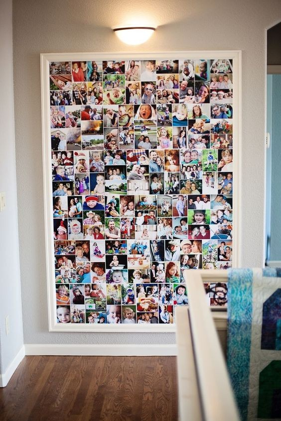 collage fotografico su tela