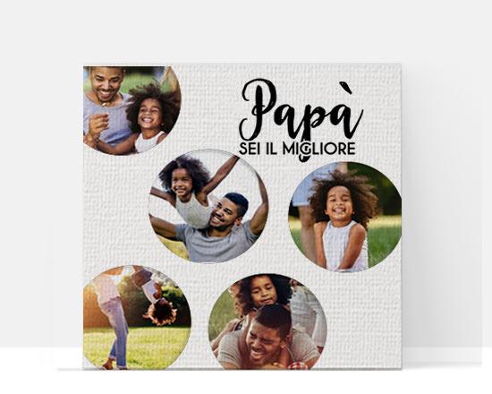stampa su tela personalizzata per la festa del papà