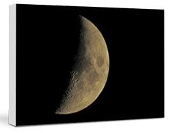 stampa foto eclisse luna su tela