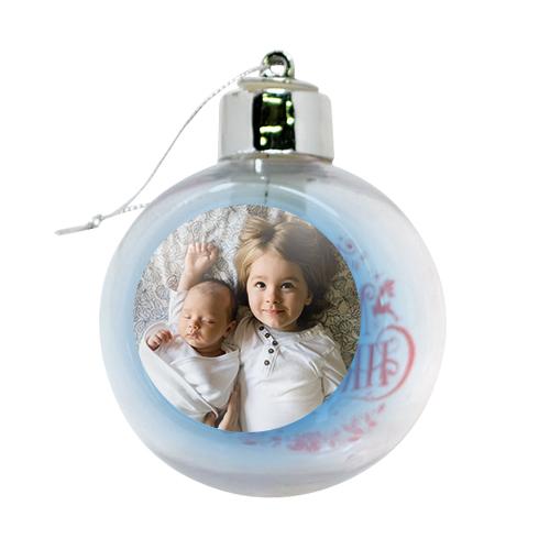 pallina di natale luminosa personalizzata con foto di bambini