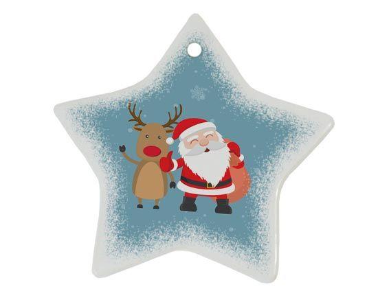 decorare ingresso con addobbo natalizio in ceramica