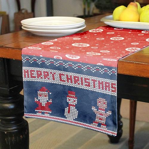 decorare tavola con runner natalizio