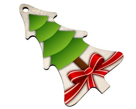 decorare le finestre con addobbi natalizi in legno