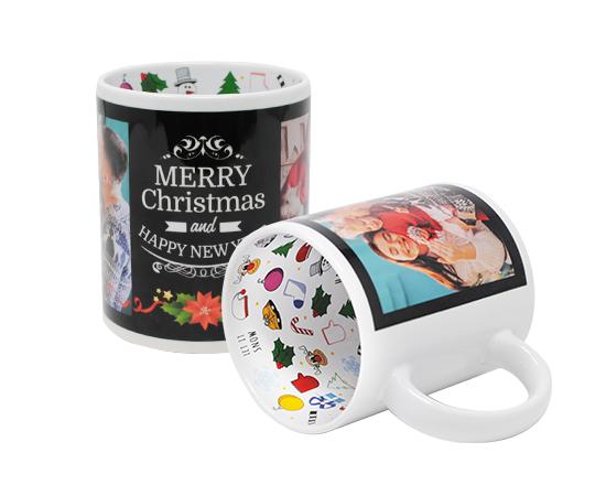 Tazza natalizia personalizzata con foto