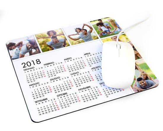 mousepad calendario in tessuto stampato con foto e datario