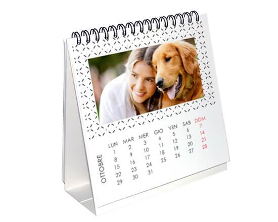 calendario da tavolo personalizzato