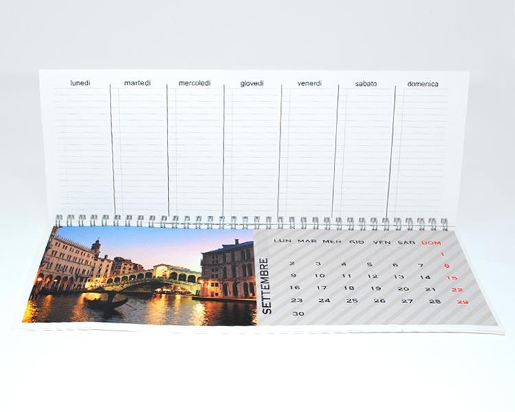 calendario da scrivania personalizzato con foto