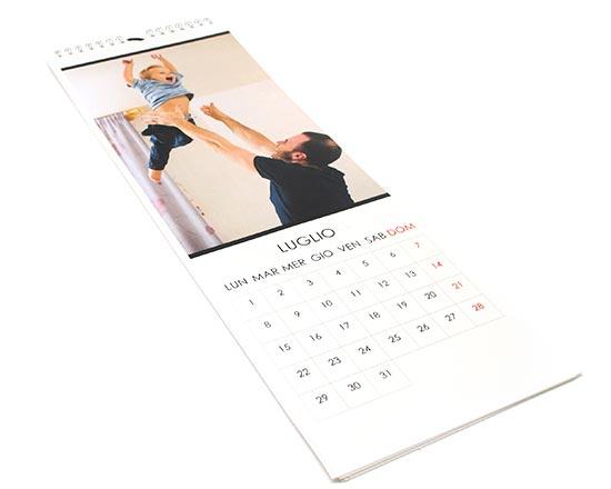 calendario formato slim stampato con foto